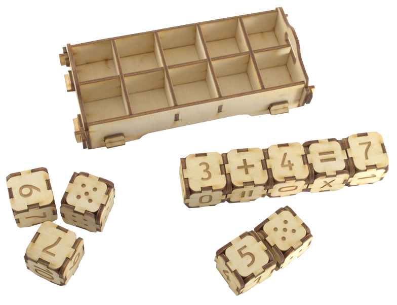 Ciparu kluči ir 10 klucīšu komplekts, no kuriem: četri ir ar cipariem no 0-5, divi ar cipariem 6-10, divi metamie kauliņi un divi ar pamataritmētiskajām darbības zīmēm. Komplektā ietilpst arī kastīte kluču ievietošanai. Komplekts pielietojams dažādu aritmētisku uzdevumu veikšanai, izmantojot spēles elementus. Darbs ar klucīti prasa ļoti intensīvu vienas vai abu roku visu pirkstu darbību, tādejādi sekmējot sīkās pirkstu muskulatūras attīstību.