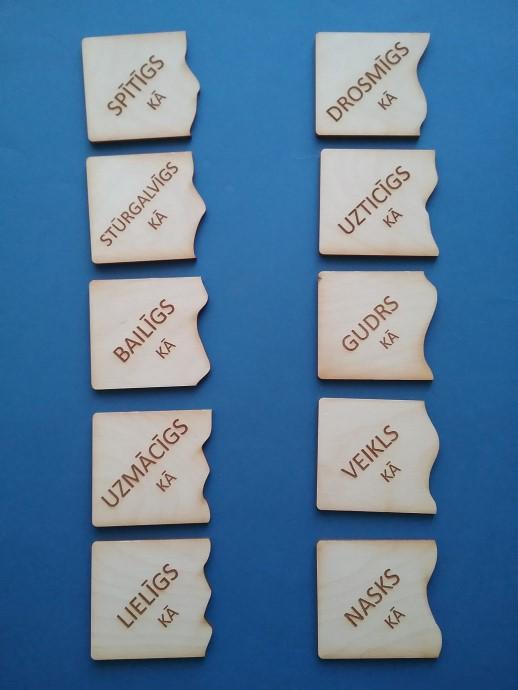 Grupēt īpašības vārdus, piemēram: pozitīvajās (vēlamajās) un negatīvajās (nevēlamajās) īpašībās.
