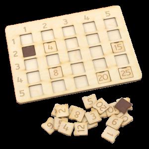 Reizrēķina tabula ar pamatni (līdz 25)