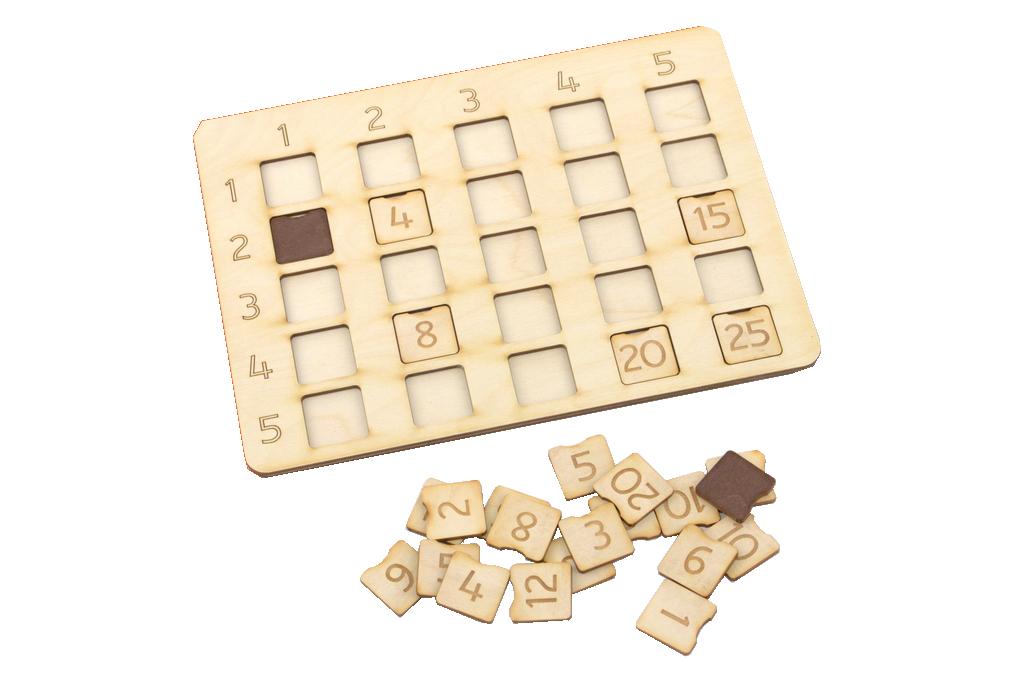 Reizināšanas tabula veidota kā palīglīdzeklis pilna reizrēķina tabulas apguves sākumposmam spēles vai sacensības formātā, izmantojot redzes, kā arī mehānisko (pirkstu) atmiņu.