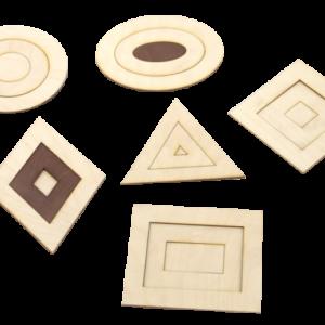Ģeometrisko figūru komplekts(saliekams)