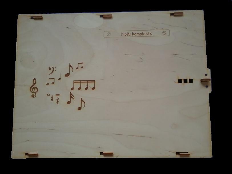 Mūzikas teorijas pamatu(solfedžo) komplekts,  stiprināms ar magnētiem pie standarta nošu tāfeles.