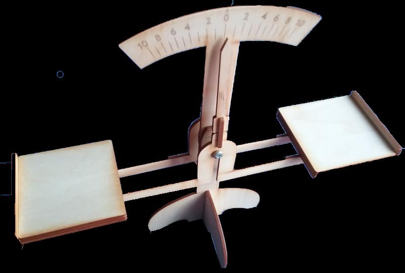 Mācību palīglīdzeklis paredzēts svaru darbības principa, svara un svēršanas jēdzienu izpratnes veidošanai. Sastāv no svara mehānisma un atsvara komplekta, kas veidots no nelieliem kvadrātiem ar laukumu no 1cm2 līdz 10cm2.