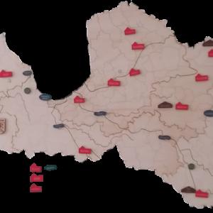 Latvijas novadu karte (ar uzdevumiem)