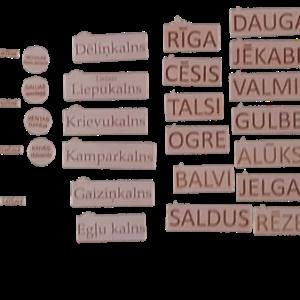 Latvijas ģeogrāfisko objektu komplekts