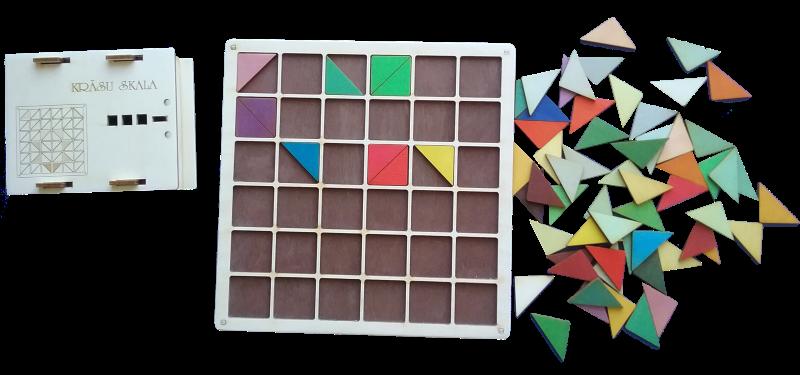 Mācību līdzeklis krāsu apgūšanai. Sastāv no 36 krāsu un no tām atvasināto toņu kvadrātveida kauliņiem, kuri pa diagonāli sadalīti divos trīsstūros, pamatnes to ievietošanai kā arī sešiem klucīšiem, kuru skaldnes nokrāsotas tajās pašās krāsās.
