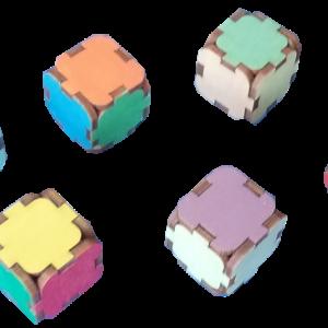 Mazie krāsainie klucīši (6gab.)