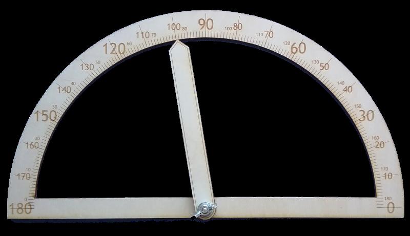Mācību līdzeklis ģeometrijas elementu apguvei. Transportiera vidējā kustīgā ass dod iespēju ātri mainīt leņķa veidu atvieglojot izpratni par leņķiem, to veidiem un to mērīšanu. To sekmē arī iespēja uzlikt transportieri uz papīra uzzīmēta leņķa tā, lai transportiera malas sakrīt ar mērāmā leņķa malām.