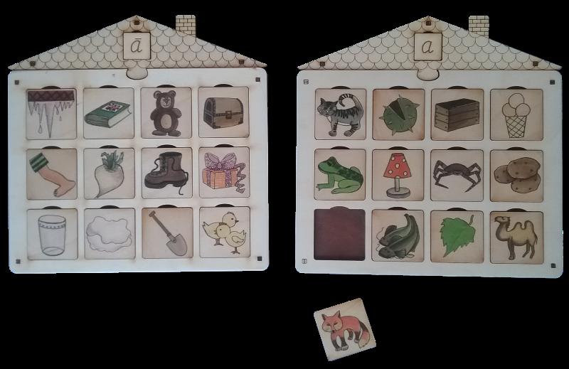Citi iespējamie darbi:  1) Grupēt attēlus pēc to nosaukuma pirmā  burta un likt tos dažādās mājiņās.