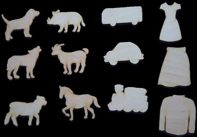 Dažādas formas un figūras pēc pasūtījuma.
