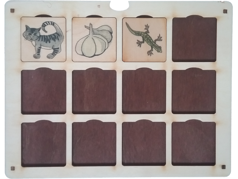 4)Grupēt attēlus pēc to dažādā zilbju  skaita un likt dažādās mājiņās.  5) Grupēt attēlus pēc dažādām  tēmām (dzīvnieki, augi, mājas lietas utt.).