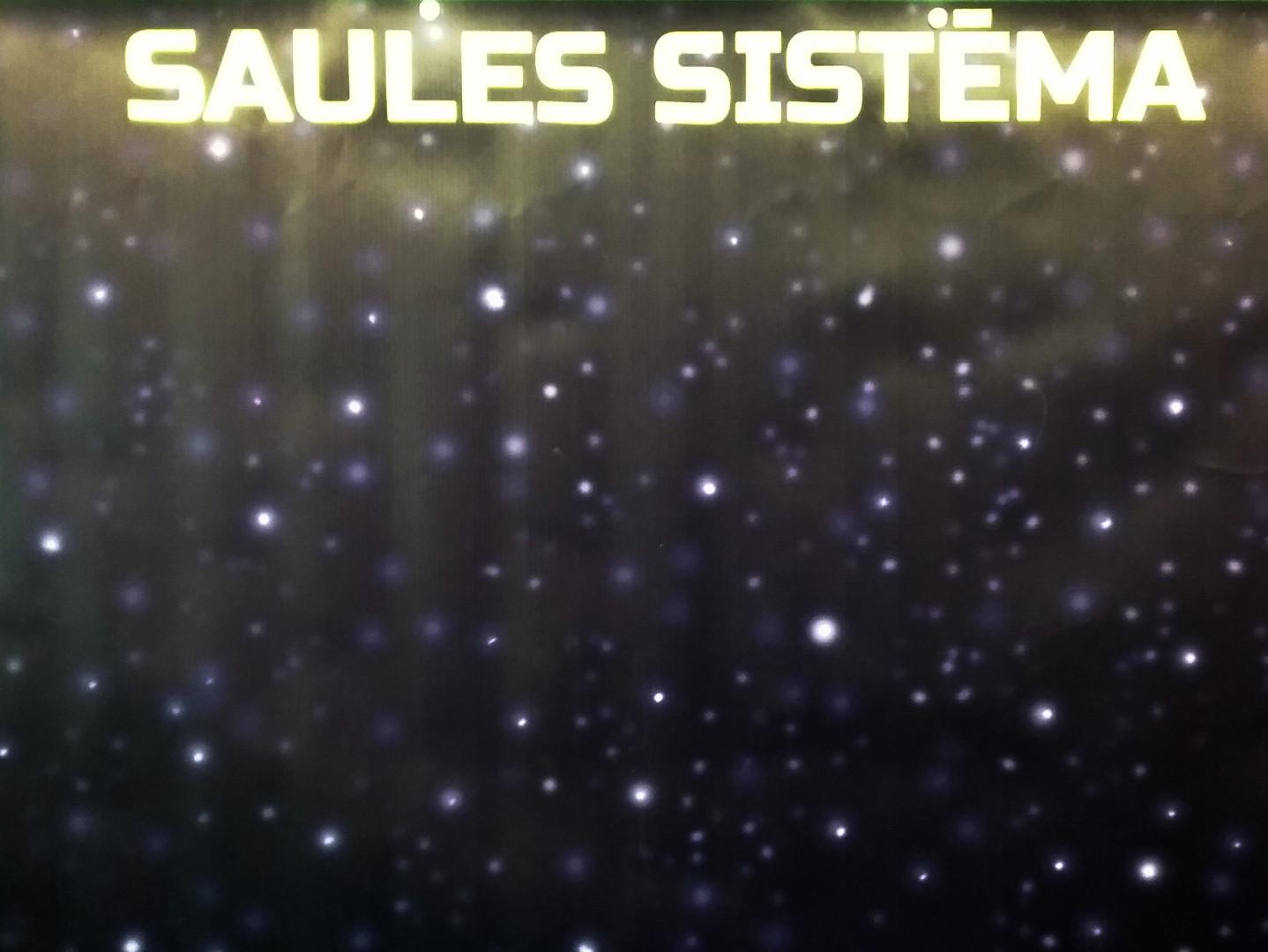 Stiprināms ar magnētiem pie tāfeles 80cm x100cm. Izmantojams dabas mācībā, Saules sistēmas debess ķermeņu demonstrācijai.