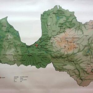 Latvijas ģeogrāfijas karte